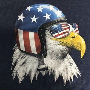 Other - Bald Eagle Tee Shirt Sz 3XL Helmut Sunglasses